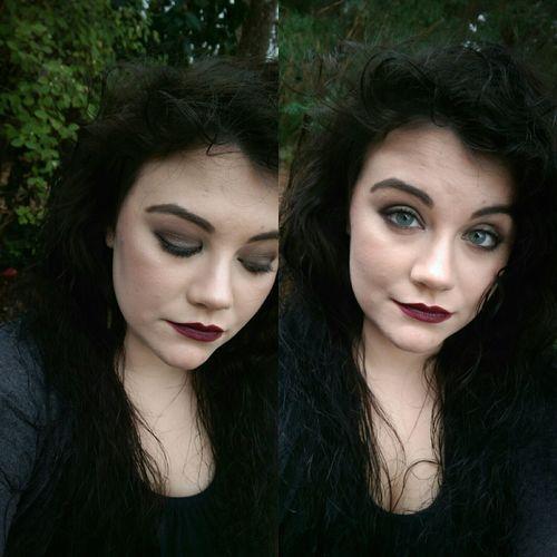 Grungy. That's Me Matte Lipstick Nyxlipstick  Nyxcosmetics Smokey Eye Eyebrows On Fleek Me Myself And I Mobilephotography Grunge Makeupaddict