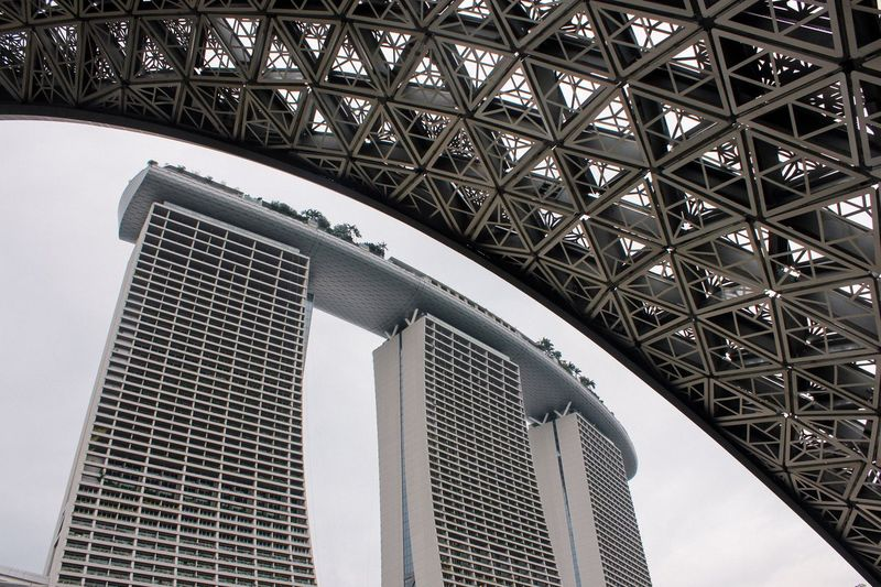 Shape Wallpaper Marina Bay Sands Urban Street Singapore Built Structure Architecture Metal No People Low Angle View Building Exterior Pattern Travel Destinations City Outdoors Travel Modern Building Complexity Iron - Metal Tower Architectural Feature
