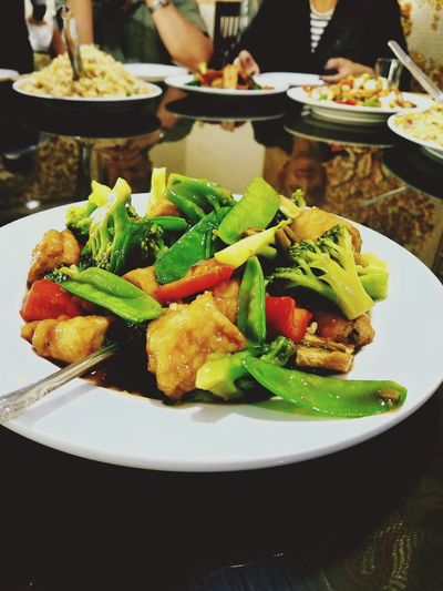Vegetable Plate Food Food And Drink Close-up Green Color Healthy Eating