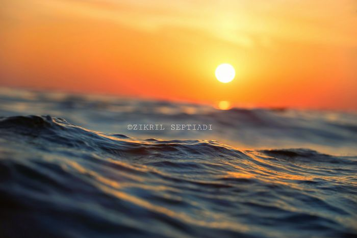 Sunset Sea No People Nature Selective Focus Beauty In Nature Wave Sky Landscape Horizon Over Water Close-up Multi Colored Motion Scenics Horizon Outdoors Water Beach Day