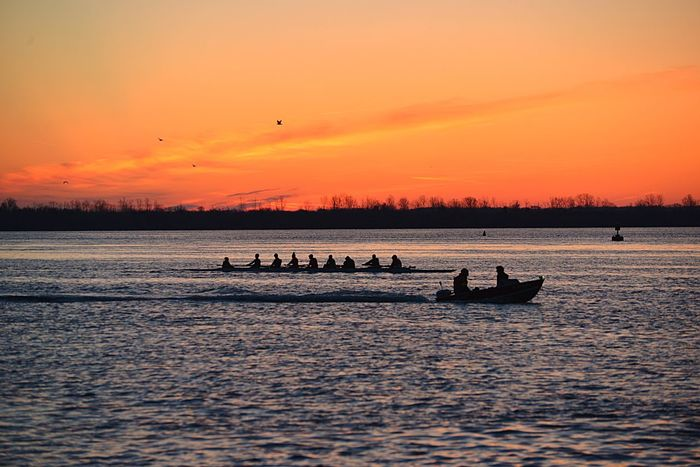 Silhouette Rowing Club Presunrise Detroit River Pure Michigan Puredetroit WyandotteRowers