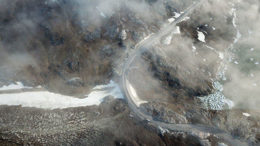 you can see my car beside the road Drone  EyeEm Best Shots EyeEm Best Shots - Nature Ilulissat The Real Greenland This Is Greenland Drone Photography Dronephotography Droneshot Over The Clouds Raod