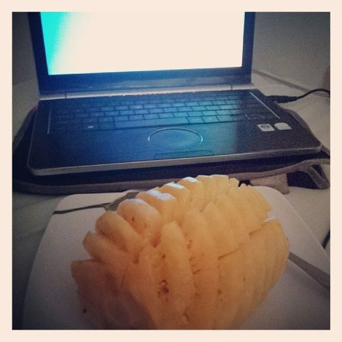 On my bed.. waiting 4 Pacquiao vs. Bradley fight. got my pineapple? GoManny Xcited