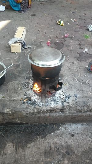 Outdoors Day No People Rural Style Cooking Coal Stove