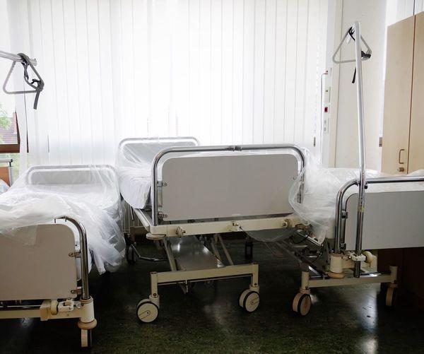 Healthcare And Medicine Hospital Bed Indoors  No People Hospital Bed Krankenhaus