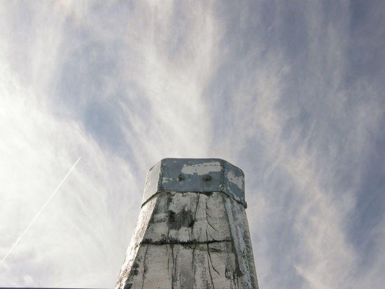 Blue Bollard Cloud - Sky Day Endless Sky Low Angle View No People Outdoors Sky