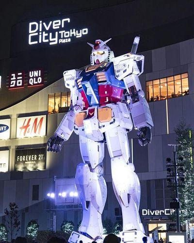 ダイバーシティ東京 ガンダム お台場 風景