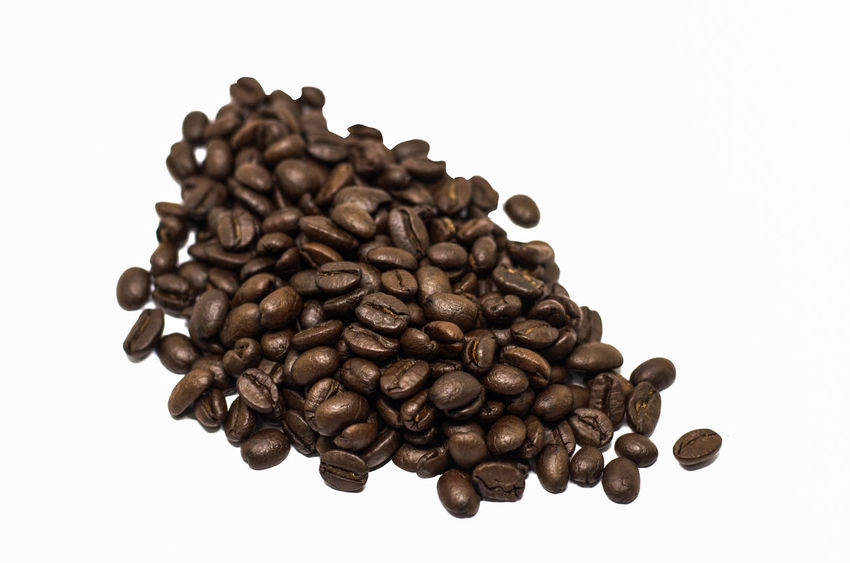 Coffee beans Agriculture Beans Coffee Dark Drinks Food And Drink Brown Caffeine Coffee Coffee - Drink Coffee Bean Copy Space Cut Out Drink Food Food And Drink Freshness Health Opject Product Roasted Roasted Coffee Bean Still Life Studio Shot White Background