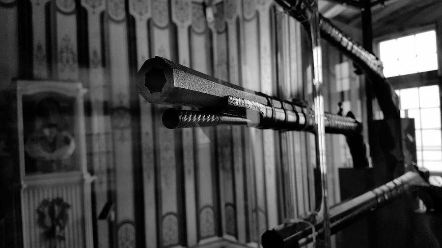 Close-Up Of Gun Barrels