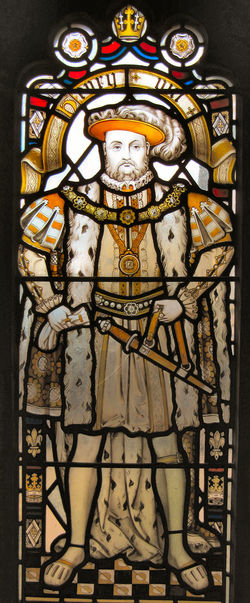Architecture Art And Craft Bristol Cathedral Henry VIII Indoors  Stained Glass