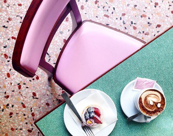 Breakfast in WesLand 🔹🍥🔹 Milano Italy FondazionePrada Prada Wesanderson Breakfast Retro Vintage First Eyeem Photo