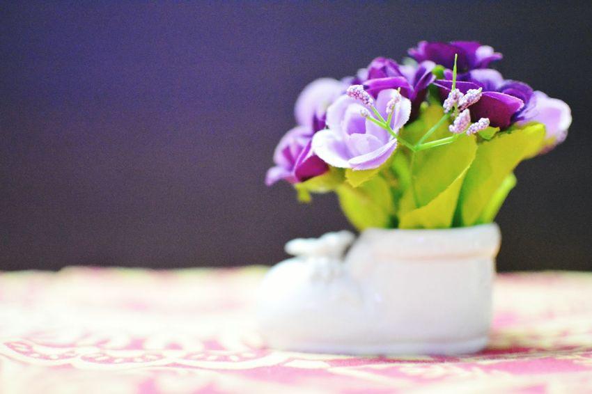 Flowers, cute, shoe,
