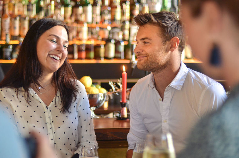 Afterwork Casual Happiness Alcohol Bar Bar - Drink Establishment Bar Counter Business Business Person Businessman Businesswoman Drink Food And Drink Friendship Happiness Happy Hour Joy Restaurant Smiling Togetherness Trendy Two People Women Young Men Young Women