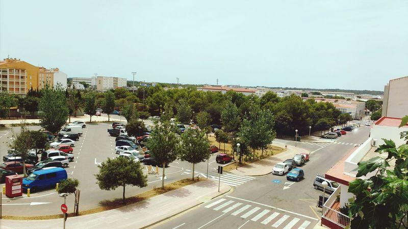 Menorca Mao Car Park Tree Balearicislands Urban