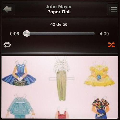 Was it just too far to fall? Paperdoll John Mayer Music songoftheday imusic shufffle ipod jam myjam