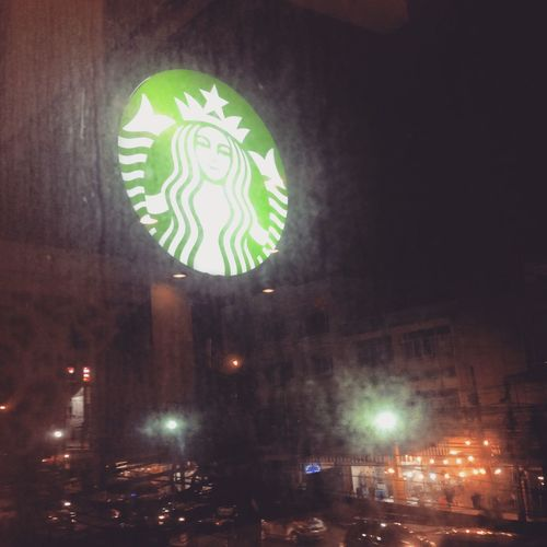 Starbucks Nightlife Night Lights On A Date