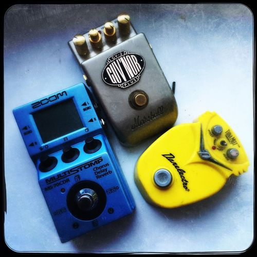 Guitar effect pedals Guitar Gear Effect Pedals Guitar Pedals No People Close-up Indoors  Technology