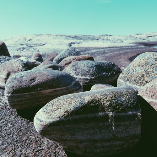 Stones Background Backgrounds Beauty In Nature Blue Close-up Day Idyllic Landscape Natural Pattern Nature No People Non-urban Scene Outdoors Remote Rock Rock - Object Rock Formation Scenics Sky Fresh On Eyeem  Stones Tranquil Scene Tranquility Water Tjurpannan