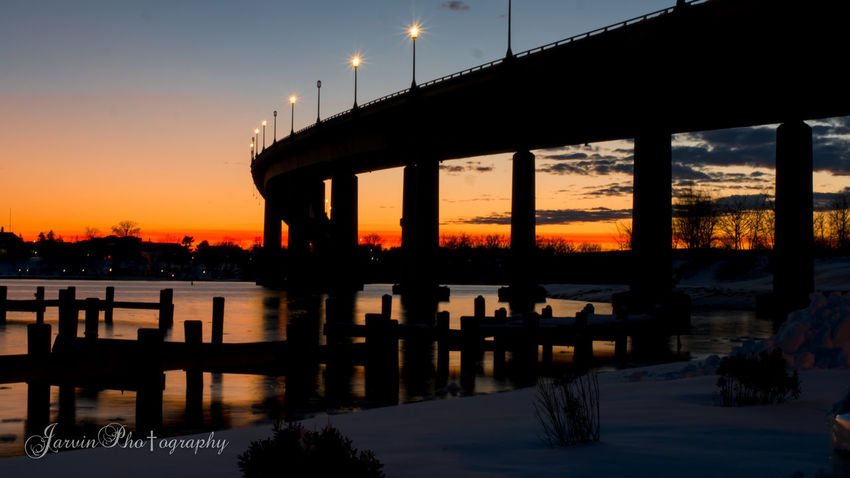 Sunset after the Snowmageddon Maryland Annapolis Panasonic GH4 Sunset Bridge View UnitedStatesNavalAcademy Jarvinvideoediting Snowstorm2016