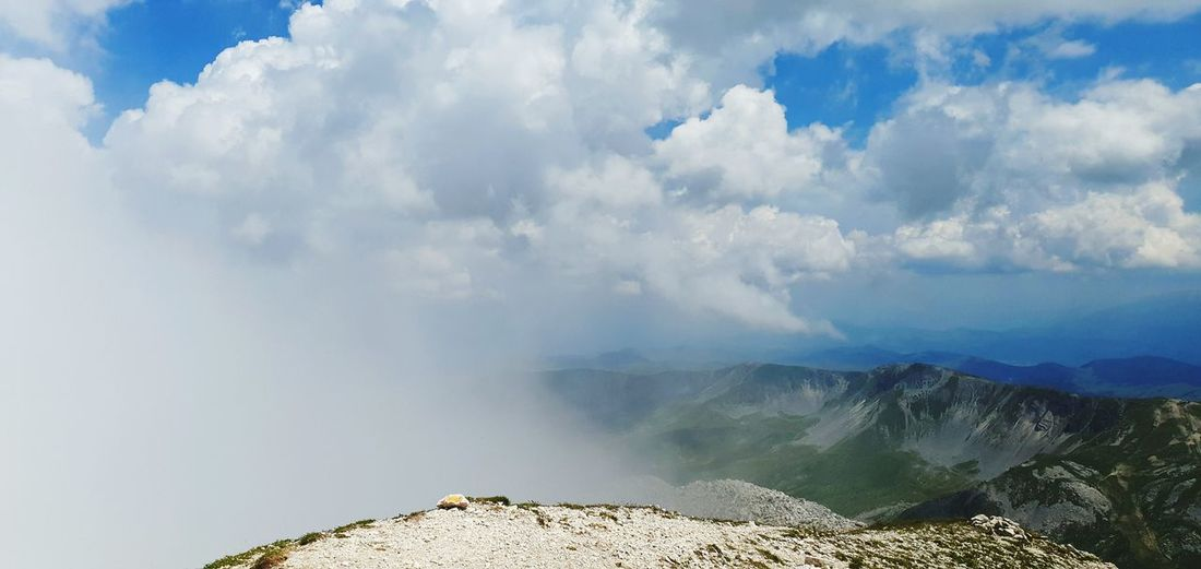 Panoramic view of mountain against sky
