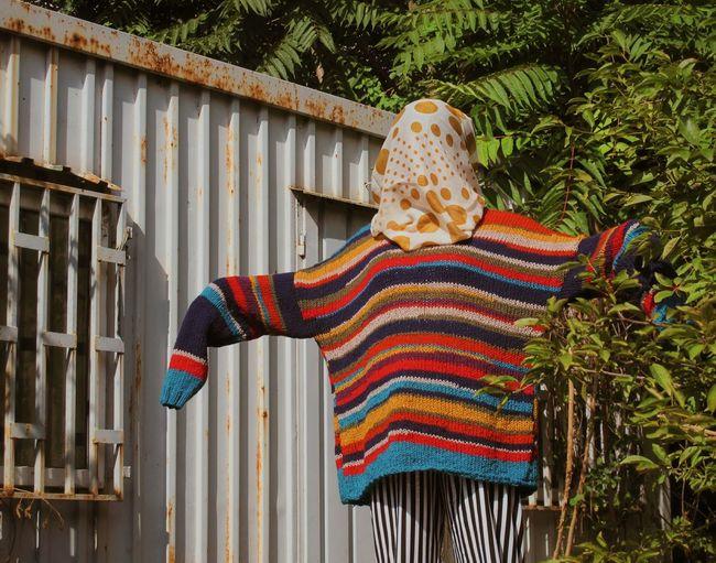 10 Wool Multi Colored Tree Sweater Knitted  Woolen Knitting Scarf Posing Winter Coat The Fashion Photographer - 2018 EyeEm Awards Urban Fashion Jungle