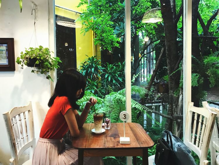 Under the Tree 🌿🍃 Coffee Time Coffee - Drink Coffehouse