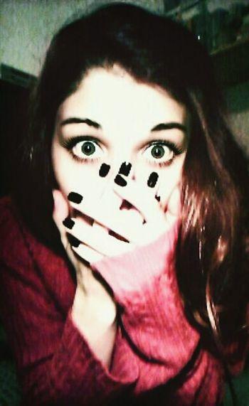 Eyes Nailart  Black RedHAIR ❤