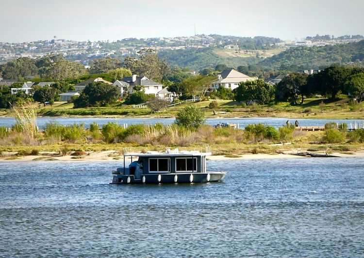 Home Away From Home ~ Architecture No People Built Structure Outdoors Building Exterior Water Day Tree Beach Mountain Sky Nature Houseboat Sea And Sky Breathing Space Boats And Moorings Village View Cape Province South Africa Estuary View Sailing On The Waterfront Ideal Life