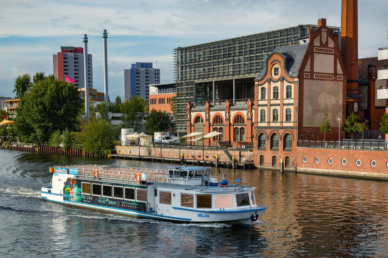 Berlin Photography RADIALSYSTEM V Architecture Boat Building Exterior Built Structure City Cityscape Cloud - Sky Day Mode Of Transport Moored Nature Nautical Vessel No People Outdoors River Sky Spree River Transportation Tree Water Waterfront Discover Berlin