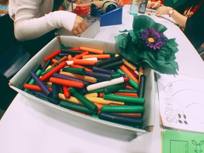Crayons Colors Landscape