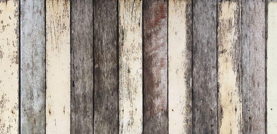 Full frame shot of wooden fence against wall