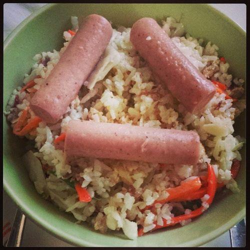 """This is what I called """"Recycled Foods: Tira-Tirang Pagkain"""" hihihihi tara Lunch!! murag chaofan hahahaha.. Myrecipe Mystyle Mugna2style Yum2x"""