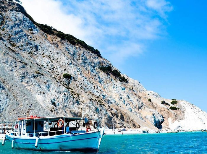 #skiathos Beauty In Nature Day Mode Of Transport Mountain Nature Nautical Vessel No People Outdoors Scenics Sea Sky Transportation Water