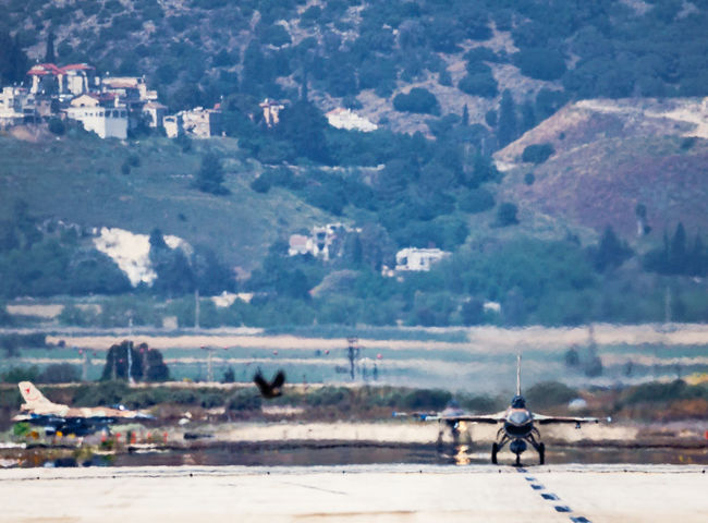 Aviation Blue Sky F-16 Fighting Falcon Flight General Dynamics IAF Israeli Air Force Runway Taxiing