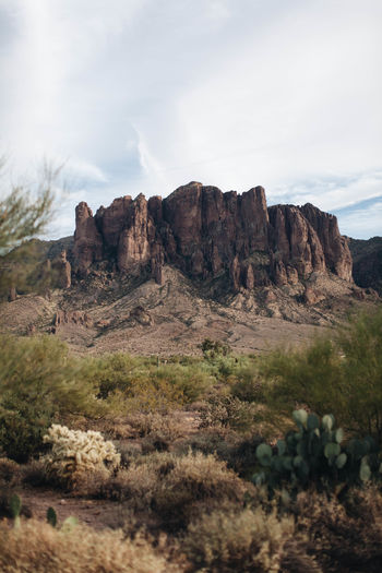 Desert Rugged Autumn Beauty In Nature Day Desert Landscape Mountain Mountain Range Nature No People Outdoors Rock - Object Rugged Beauty Scenics Sky Superstition Mountains Wilderness