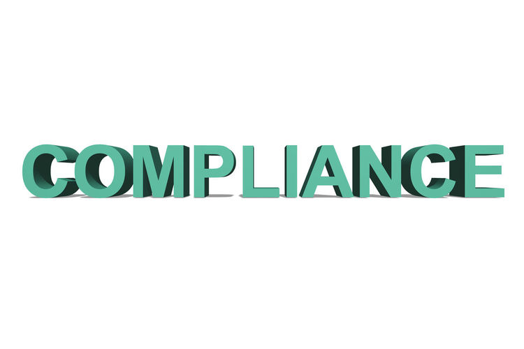 COMPLIANCE as a 3D text on a white page Transparency Business Stories Claim RegulationSize Text Business Finance And Industry Compliance Policy Standard