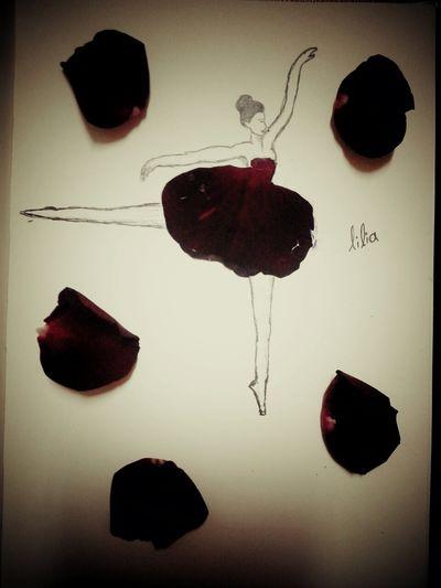 Roses Roseleaf Balerina Letsdance  LetsDraw MyDrawing Lilia