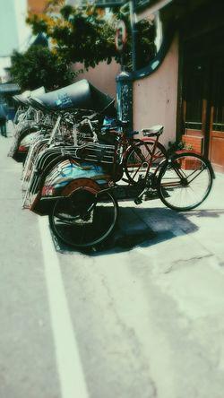 Becak at Yogyakarta Traditional Transportation City View  The Explorer - 2014 EyeEm Awards EyeEm Indonesia