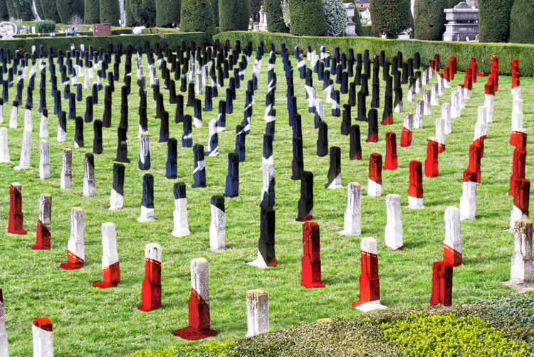 View of world war memorial cemetery