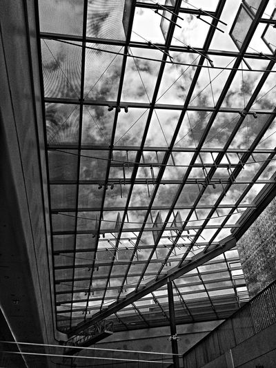 Urban Geometry Shopping Sky Blackandwhite