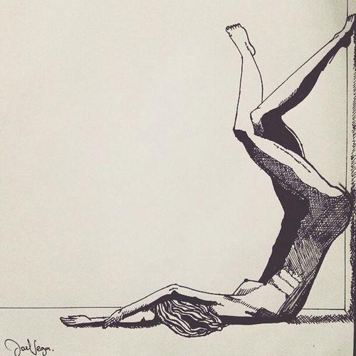 Naked Woman Drawing Beauty