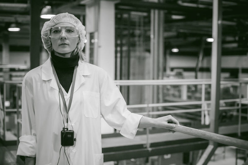 Scientist Working In Factory
