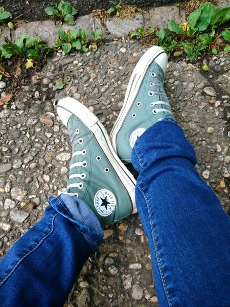 Human Leg Low Section Shoe One Person Personal Perspective Jeans Real People Human Body Part Human Foot Canvas Shoe Lifestyles High Angle View Casual Clothing Directly Above Converse Converse All Star Converse Love ConverseChuckTaylors Converseoriginal Loveshoes Converse Shoes EyEmNewHere