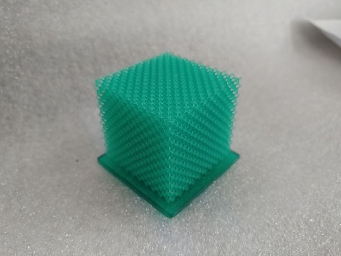 3d Printing 3D Printed 3D Print Plastic End Plastic Pollution 3d Lattice Tesseract Structure Nano Technology Nano Structure Lattice Studio Shot High Angle View Gray Background Close-up Green Color