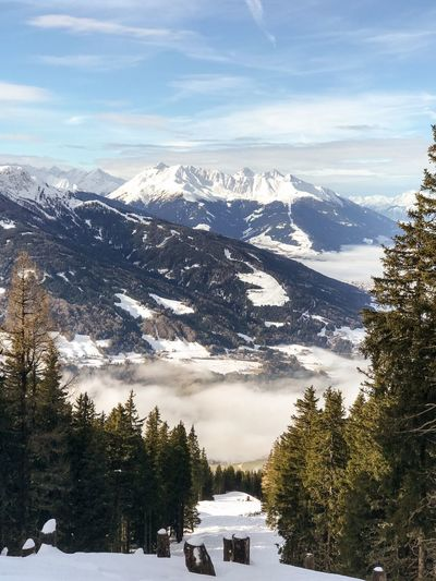 Scenics Outdoors Stump Patscherkofel Tyrol Austria Alps Austria Fir Tree Snow Winter Cold Temperature Tree Mountain Beauty In Nature Nature Scenics Tranquil Scene Tranquility Weather Sky Cloud - Sky No People Idyllic Mountain Range Day Outdoors Snowcapped Mountain