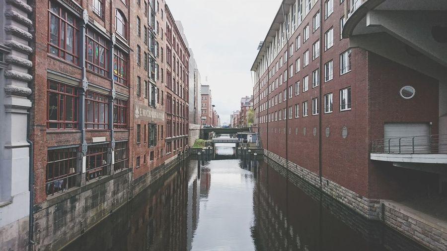 Hamburg and the water. · Hamburg Germany Hh 040 Hansestadt Hamburg Hanseatic City Center Water Canal Down The River Horizon Brick Buildings Cityscape Architecture Moody Gray Sky