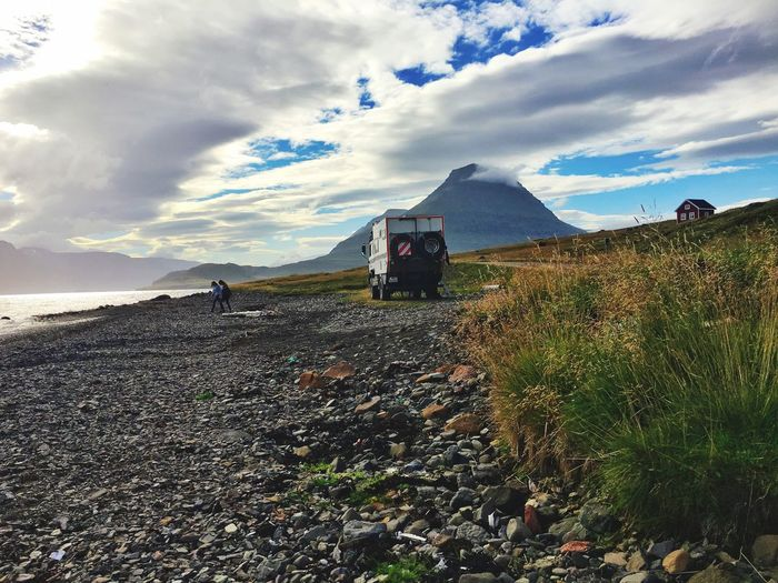 Coastline Iceland Place For The Night Camper Sky And Clouds Iceland216