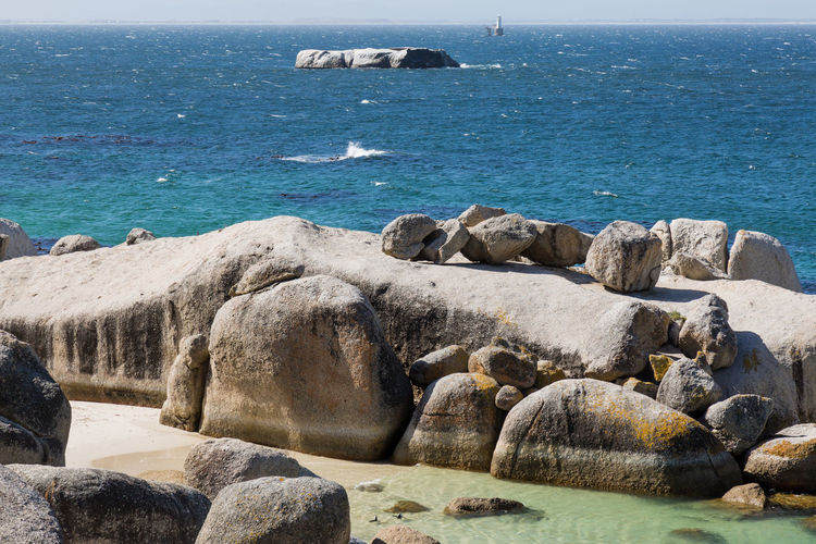 Cape Peninsula Cape Town South Africa Africa Coast Cpastline Day False Bay Landscape No People Outdoors Roman Rock Lighthouse Water