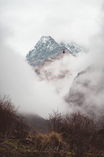 Helicopter Beauty In Nature Cloud - Sky Day Environment Geology Land Landscape Mountain Mountain Peak Nature No People Non-urban Scene Outdoors Physical Geography Plant Pollution Power In Nature Scenics - Nature Sky Smoke - Physical Structure Tranquil Scene Tranquility Tree Volcanic Crater