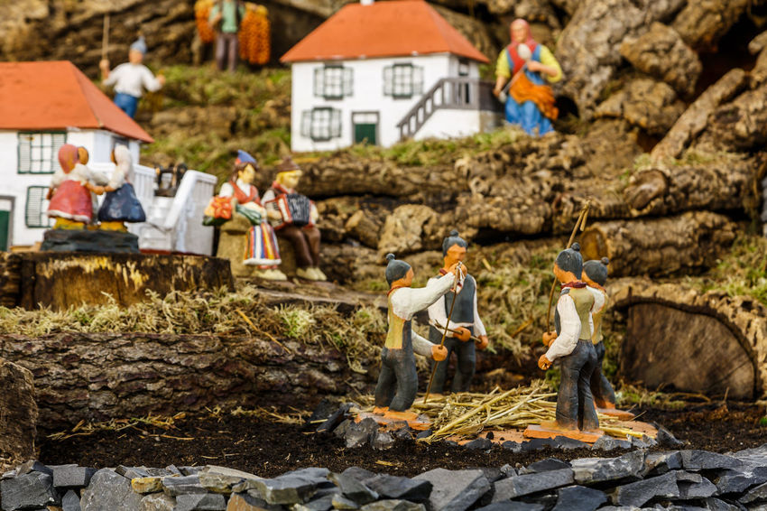Madeira Island Adult Adults Only Baby Jesus Construction Site Crib Crib Figurine Day Full Length Men Occupation Outdoors People Real People Shepherds Standing Volunteer Women Working Young Adult